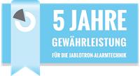 5 Jahre Gewährleistung Jablotron