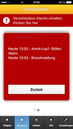 Amok-Lauf und Feueralarm Alarmsysteme