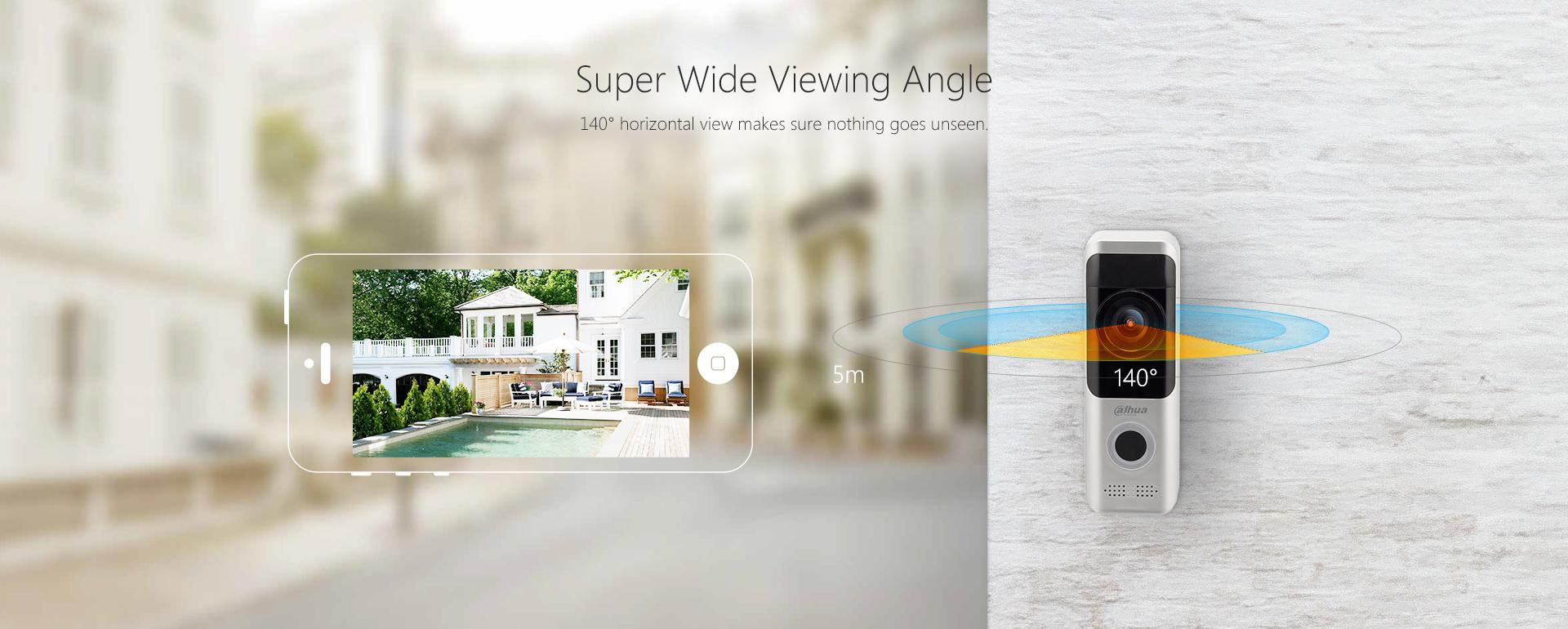 Funk-Video-Gegensprechanlage-IP-Tuerklingel-mit-2MP-Kamera-Wi-Fi-und-Batteriebetrieb-Superweitwinkel