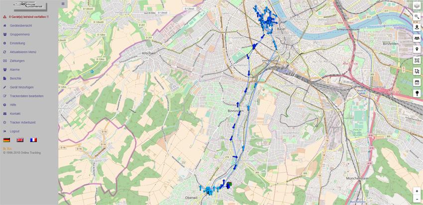 GPS-Trackpunkte-Verlauf