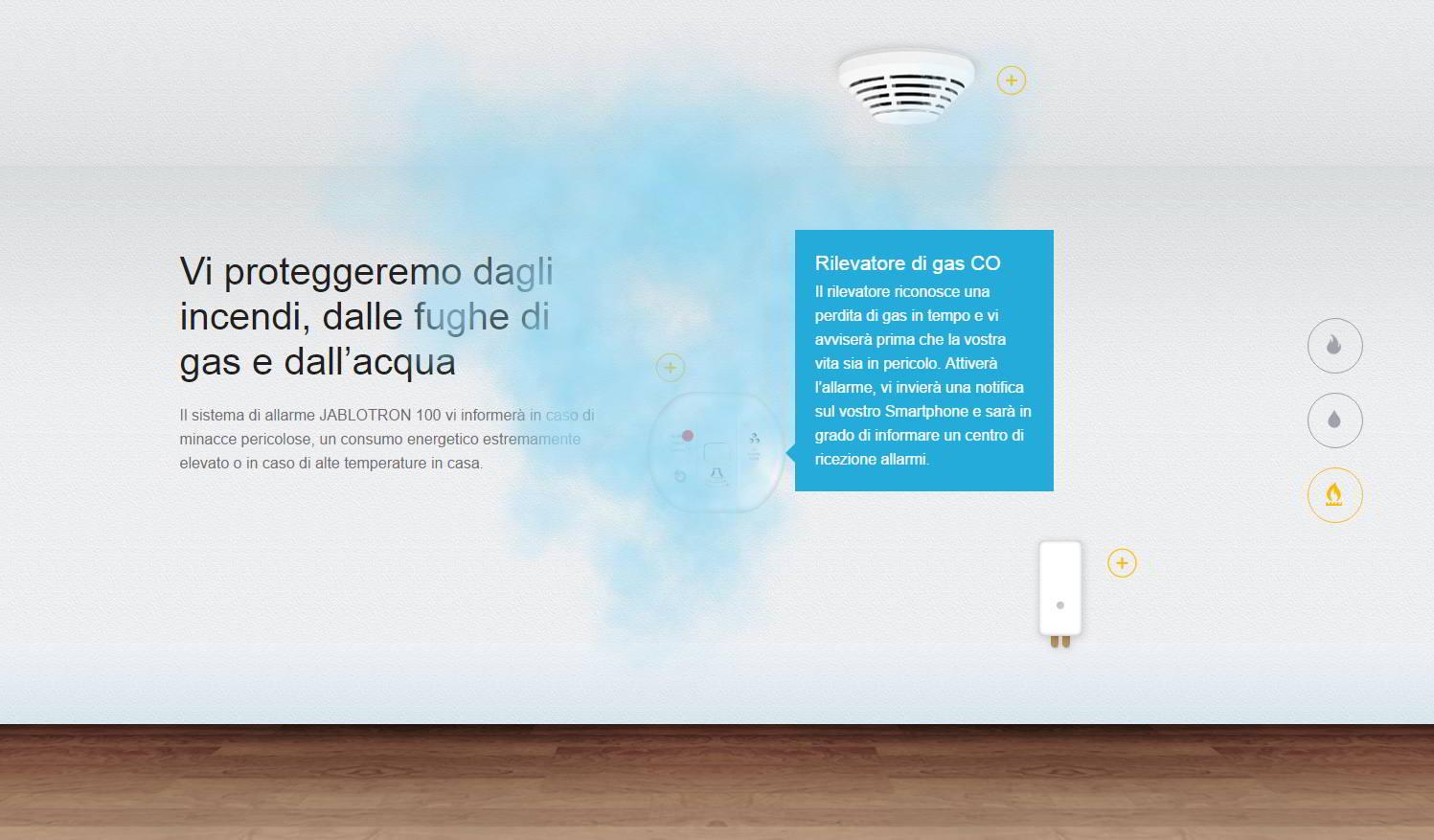 JABLOTRON 100 Gasmelder Schutz vor Bedrohungen