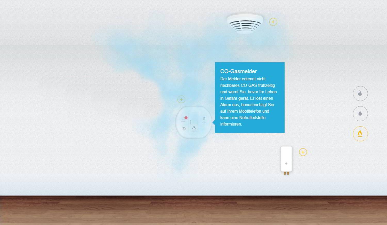 Schutz vor Bedrohungen Die JABLOTRON 100 CO-Gasmelder